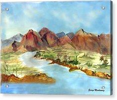Mountain Range Acrylic Print by George Markiewicz