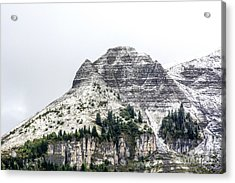 Mountain Range Snow Covered Acrylic Print