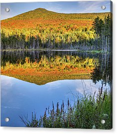 Mountain Reflections Square Acrylic Print by Bill Wakeley