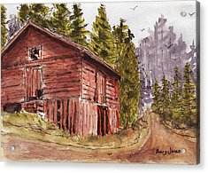 Acrylic Print featuring the painting Mountain Retreat by Barry Jones
