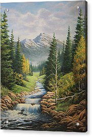 Mountain River View Acrylic Print by Diana Miller