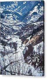 Mountain Road Acrylic Print by Svetlana Sewell
