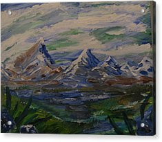 Mountain Scene Acrylic Print by Dennis Poyant