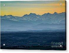 Mountain Scenery 12 Acrylic Print by Jean Bernard Roussilhe