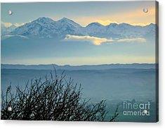 Mountain Scenery 14 Acrylic Print by Jean Bernard Roussilhe