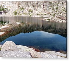 Mountain Side Reflection Acrylic Print
