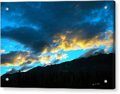 Acrylic Print featuring the photograph Mountain Silhouette by Madeline Ellis
