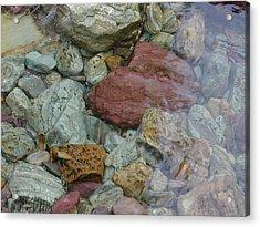 Mountain Stones Acrylic Print by Lisa Patti Konkol