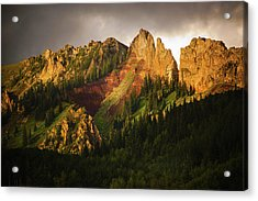 Mountain Storm Light Acrylic Print