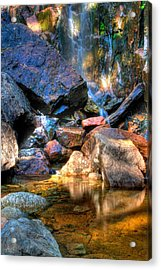 Acrylic Print featuring the photograph Mountain Stream by Greg DeBeck