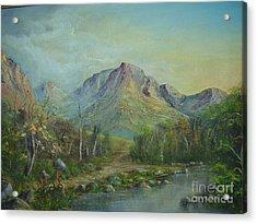 Mountain Stream Acrylic Print by Rita Palm