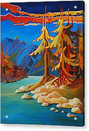 Mountain Stream Acrylic Print by Santo De Vita
