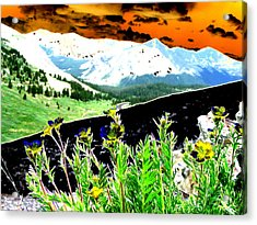Mountain Summer Acrylic Print by Peter  McIntosh