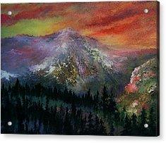Mountain Summit Acrylic Print by Jeffrey m Bozik