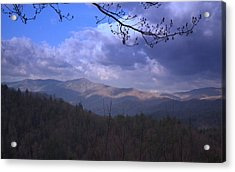 Mountain Sunrise Acrylic Print by Wayne Skeen