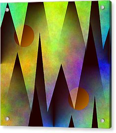 Mountain Sunset Abstract Acrylic Print
