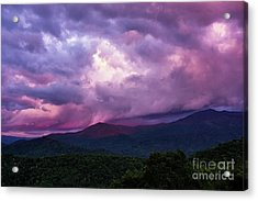 Mountain Sunset In The East Acrylic Print