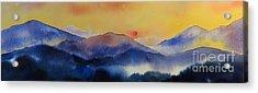 Mountain Sunset Acrylic Print by Megan Richard