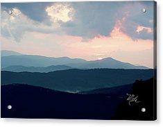 Blue Ridge Mountain Sunset Acrylic Print by Meta Gatschenberger