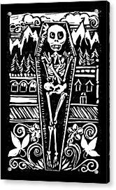 Mountain Town Skeleton Acrylic Print