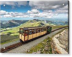 Mountain Train Acrylic Print