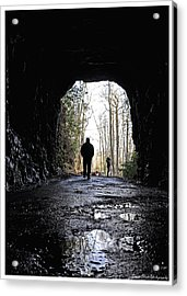 Mountain Tunnel Acrylic Print