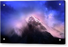 Acrylic Print featuring the photograph Mountain Twilight by John Poon