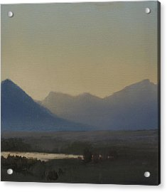 Acrylic Print featuring the painting Mountain Valley Sold by Cap Pannell