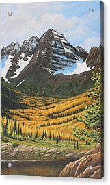 Mountain Valley Acrylic Print by Diana Miller