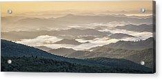 Mountain Valley Fog - Blue Ridge Parkway Acrylic Print