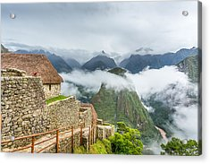 Acrylic Print featuring the photograph Mountain View. by Gary Gillette