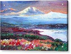 Mountain View Minature Acrylic Print