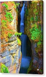 Mountain Waterfall Acrylic Print by Paul Kloschinsky