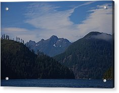 Mountain With Summer Snow Acrylic Print