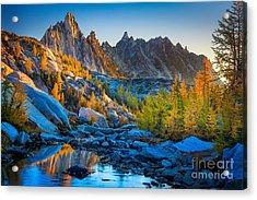 Mountainous Paradise Acrylic Print by Inge Johnsson