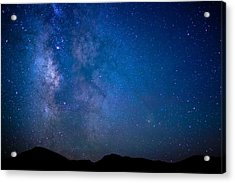 Mountains And Milky Way Acrylic Print