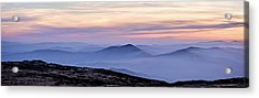 Mountains And Mist Acrylic Print by Marion McCristall