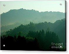 Mountains And Mist Acrylic Print by Thomas R Fletcher