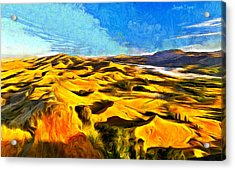 Mountains And Valley - Da Acrylic Print by Leonardo Digenio