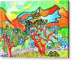 Mountains At Collioure Acrylic Print