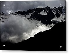 Mountains Clouds 9950 Acrylic Print by Marco Missiaja