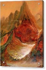 Mountains Fire Acrylic Print