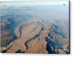 Mountains In Baloschistan  Acrylic Print by Richard Wareham