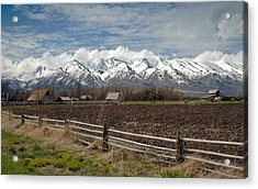 Mountains In Logan Utah Acrylic Print