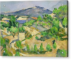 Mountains In Provence Acrylic Print by Paul Cezanne