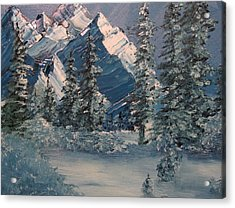 Mountains In Winter Acrylic Print