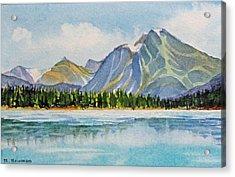 Mountains-near-jasper Acrylic Print by Nancy Newman