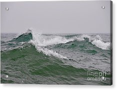 Mountains Of Waves Acrylic Print