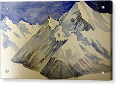 Acrylic Print featuring the painting Mountains by Steven Holder