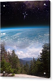 Mountaintop Space View Acrylic Print by Patrick J Maloney